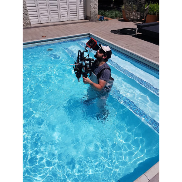 DJI Gimbal, ronin, pool shoot, film making